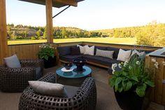 What a view! Breakfast Terrace - contemporary - patio - other metro - Rozewski & Co., Designers, LLC