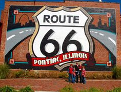 Route 66 Museum in Pontiac, Illinois... while Ben is still into Cars!