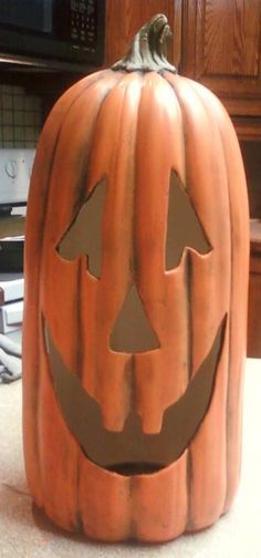 Ready to paint ceramic bisque large pumpkin