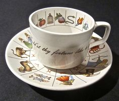 fortune telling tea cup -- I had one of these but it broke in a move :(