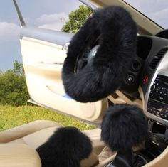 Spoiled Accessories Black Fur Steering Wheel Covers - Cars Accessories - Ideas of Cars Accessories - Spoiled Accessories Black Fur Steering Wheel Covers Car Interior Accessories, Cute Car Accessories, Fancy Cars, Cute Cars, Girly Car, Car Images, Wheel Cover, Luxury Cars, Cars For Sale