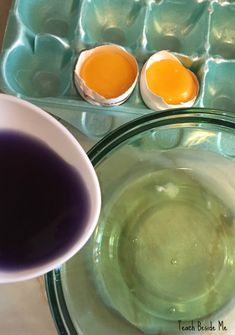 Make Green Eggs with a chemical reaction- no food dye!