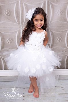 Tutu Dress..Birthday Tutu Dress.. Flower girl by TrendyBambini, $105.00