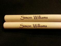 Custom engraved drumsticks for Lillian from 3dcarving on Etsy