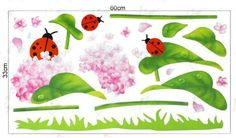 Wall Stickers for for Kids Room Living Room Bed Room Stick Wall Decals Decoration Wall Sticker Decal - Flower and ladybug beetles by bigbvg, http://www.amazon.com/dp/B008AC0SYS/ref=cm_sw_r_pi_dp_QDebqb1G209BD
