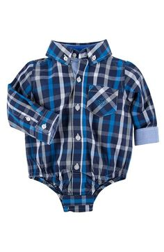 Andy & Evan 'Shirtzie' Button Down Bodysuit (Baby Boys) available at #Nordstrom