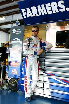 Kasey Kahne leans on the tool box during practice at Talladega Super Speedway