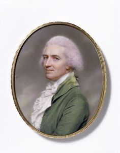 Miniature Self-portrait, by John Smart, c 1797. Watercolour on ivory. Victoria and Albert Museum.