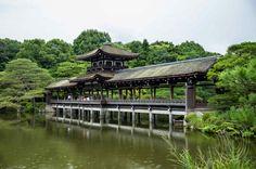 Taihei-kaku the Bridge of Peace at the Heian Shrine Gardens, Kyoto   Japan  Read more www.shapedscape.com/projects