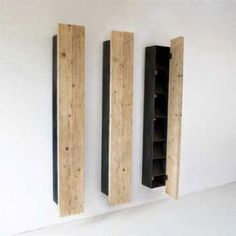 hidden bookcase wall art by Katrin Arens... thoughts for stylish tool storage