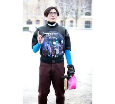 Street looks à la Fashion Week homme automne-hiver 2013-2014 de Paris - Jour 4