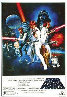 Star wars vintage movie poster