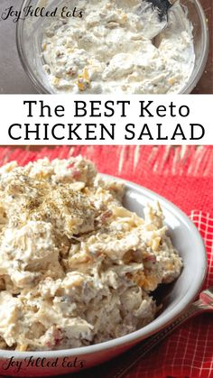Bacon Ranch Easy Chicken Salad Bacon Ranch Easy Chicken Salad This keto r . - Bacon Ranch Easy Chicken Salad Bacon Ranch Easy Chicken Salad This keto recipe is so simple and so - Ketogenic Diet Meal Plan, Ketogenic Diet For Beginners, Keto Meal Plan, Diet Meal Plans, Ketogenic Recipes, Ketogenic Supplements, Meal Prep, Ketogenic Cookbook, Ketosis Diet
