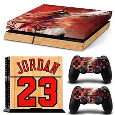GoldenDeal Console and DualShock 4 Controller Skin Set – Basketball NBA – PlayStation 4 Vinyl Playstation 4 Console, Playstation Games, Diy For Kids, Gifts For Kids, Playstation 4 Accessories, Jordan Bulls, Ps4 Skins, Video Game Console, Basketball