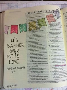His banner over me is love...