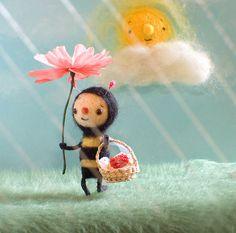 *NEEDLE FELT ART ~ Spring Promo by Sweet Pea illustrations, via Flickr
