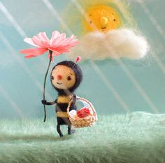 *NEEDLE FELT ART ~ Spring Promo by Sweet Pea illustrations, via Flickr