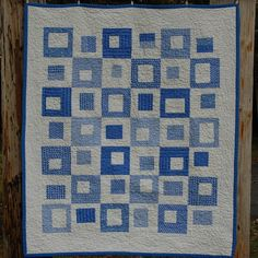 Blue Moon Modern Baby Quilt by tanneicasey on Etsy