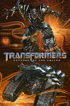 Transformers Revenge of the Fallen Decepticon Megatron Movie Poster 22x34