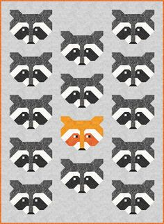 Sew Fresh Quilts: Raccoon Quilt