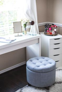 Home Tour: Office Decor | Makeup Vanity | Uptown with Elly Brown