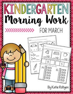 Kindergarten Morning Work for March - You get 25 pages of high quality student friendly printable worksheet pages for your kinder students. Various math and ELA concepts are included. These work great as seat work to help students stay engaged. Plus you grow student independence while practicing and reviewing essential K skills.