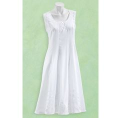 Embroidered Cotton Sundress - Women's Clothing – Casual, Comfortable & Colorful Styles – Plus Sizes