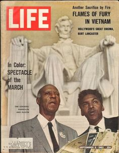Life Magazine cover with A. Philip Randolph and Bayard Rustin, organizers of the 1963 March on Washington. Ebony Magazine Cover, Black Magazine, Magazine Covers, Magazine Photos, Life Magazine, History Magazine, Afro, Life Cover, We Are The World