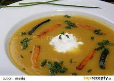 Krémová polévka z brambor, cukety a mrkve recept - TopRecepty.cz Thai Red Curry, Ethnic Recipes, Food, Essen, Meals, Yemek, Eten