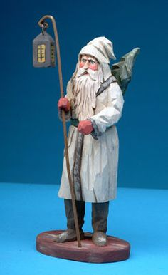Folk art wood carvings from The Whimsical Whittler :: Wintery Night :: Christmas and Santas