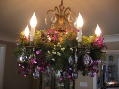 My Dining Room Chandelier at Christmas