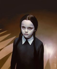 Wednesday Addams <3 So cute. Girl Scout: Well, I'll tell you what. I'll buy a cup if you buy a box of my delicious Girl Scout cookies. Do we have a deal? Wednesday: Are they made from real Girl Scouts? #TheAddamsFamily