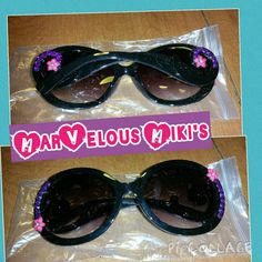 Check out this item in my Etsy shop https://www.etsy.com/listing/262587994/hand-decorated-sunglasses-hot-hot-hot