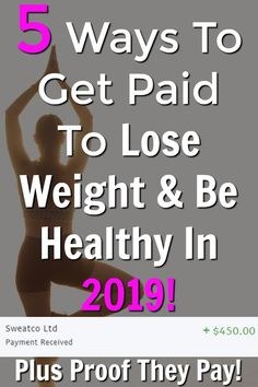 The New Year is coming soon and a lot of us will be looking to lose weight and be healthier. I've put together a list of 5 ways to get paid to lose weight and be healthy. I'll even show you proof that they pay! Work From Home Jobs, Make Money From Home, Way To Make Money, How To Get, Earn More Money, Earn Money Online, Best Online Jobs, Extra Money, Extra Cash