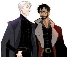 Some Drarry, because I am nothing if not consistent in my slide back into hp every 5 months~ Also I like the thought of Harry with a beard thanks (Please do not repost or redistribute without. Harry Potter Comics, Harry Draco, Mundo Harry Potter, Draco Harry Potter, Harry Potter Ships, Harry Potter Anime, Harry Potter Universal, Harry Potter World, Harry Potter Memes