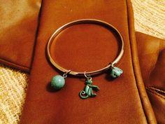 Monkey Bangle Bracelet Verdigris Finish Silver by NeutralNellies