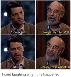 This part was sooo funny!! Made me remember the days when Dean didn't believe in angels
