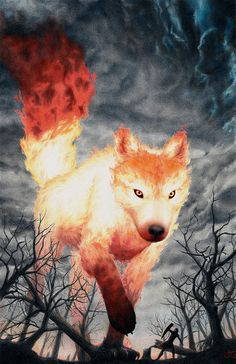 Fire Fox by Julia Griffin #Mythical #Fantasy #Creature