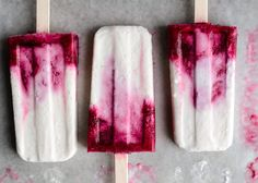 Celebrate summer with a sweet wild berry and coconut popsicle treat!
