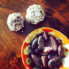 Practically living on these amazing  #raw #cacao Bliss Balls!