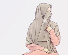 #vector #hijab #niqab @ahmadfu22 Anime Muslim, Muslim Hijab, Hijab Niqab, Mode Hijab, Hijabi Girl, Girl Hijab, Girl Cartoon, Cartoon Art, Cartoon Drawings