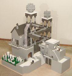 Lego Escher Lego Winter Village, Lego Animals, Lego Boards, Teaching Colors, Lego Castle, Lego Models, Lego Projects, Lego Moc, Cool Lego