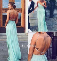 Bg962 V Neck Prom Dress,Backless Prom Dress,Chiffon Prom