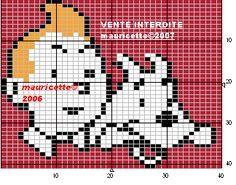 héros - cartoon - bd - tintin et milou - point de croix - cross stitch - Blog : http://broderiemimie44.canalblog.com/
