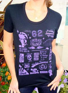 Sobriety Tee: 12 Step Mash Up T-Shirt (women's).  via Etsy.