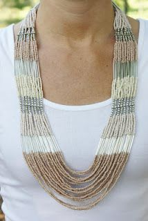 Multi-layered beaded necklace!  Love it!