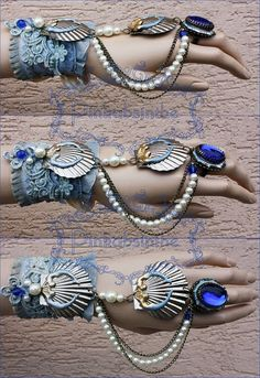 need to stock up on lots of shinies Arctic mermaid bracelet by Pinkabsinthe on deviantART Mermaid Bra, Mermaid Crown, Mermaid Jewelry, Mermaid Tails, Mermaid Makeup, Mermaid Outfit, Dark Mermaid, Ocean Jewelry, Fairy Makeup