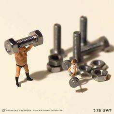 Tanaka-Tatsuya-miniature-calendar-5 A JAPANESE ARTIST CREATES EACH DAY A NEW ADORABLE MINIATURE DIORAMA