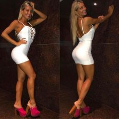 Sexy Legs And Heels, Sexy High Heels, Sexy Outfits, Sexy Dresses, Cuerpo Sexy, Clogs Outfit, Mini Vestidos, Gorgeous Feet, Beautiful Women Pictures