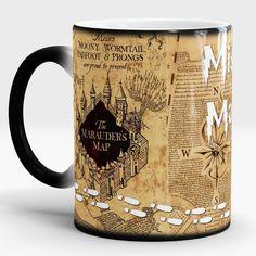 Hogwarts Mugs Marauders Map mugs mischief managed mug Heat Sensitive transforming cup cold hot heat changing color tea cups #Affiliate